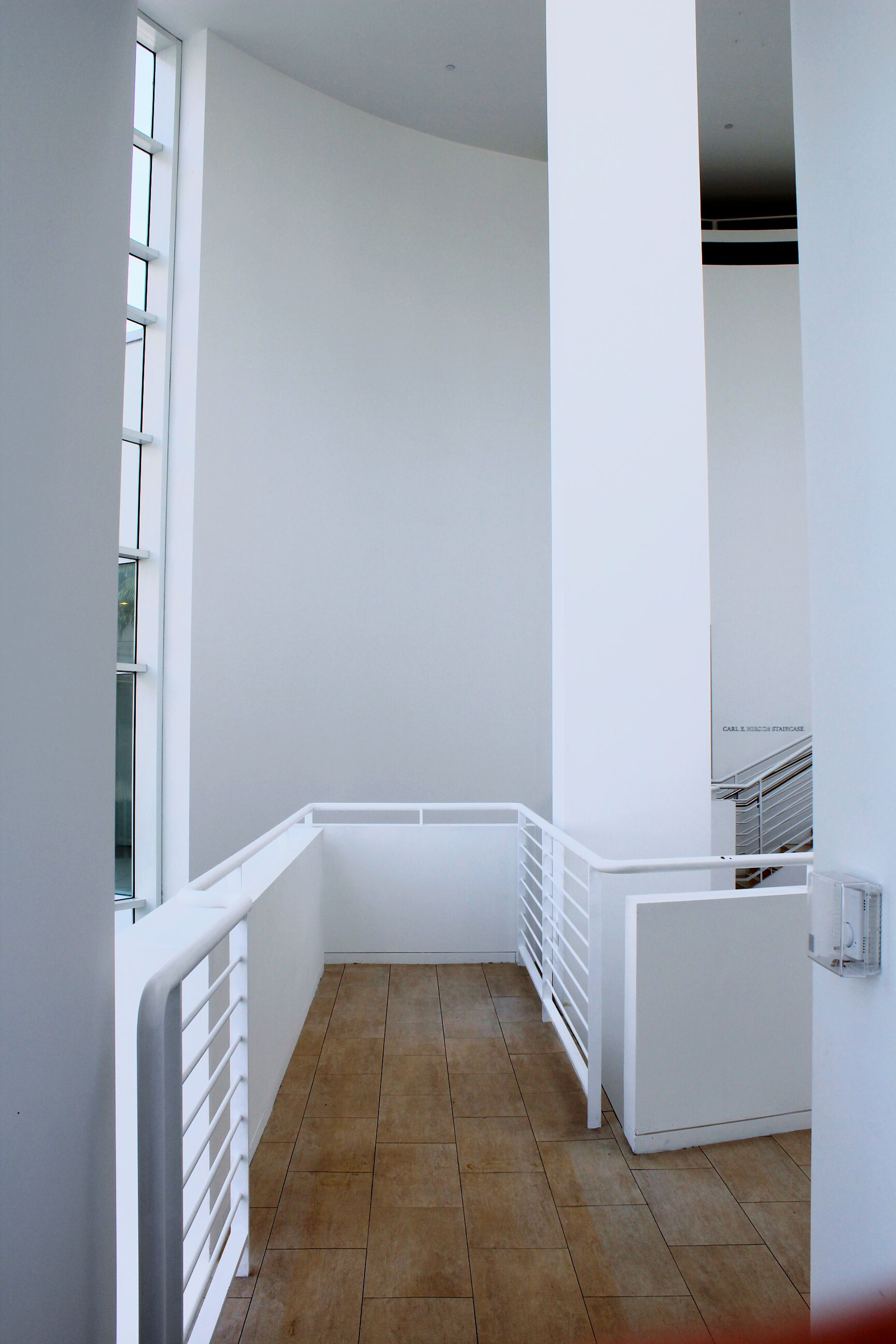 architecture, built structure, indoors, building exterior, window, building, wall - building feature, corridor, modern, wall, railing, no people, home interior, day, house, low angle view, white color, sunlight, residential structure, architectural feature