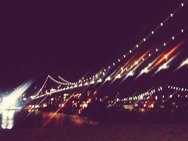 East side cruising Manhattan Bridge Brooklyn Bridge  FDR Drive Afterdark