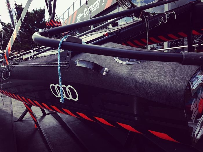 Kieler Woche Catamaran Boats EyeEm Selects Kielerwoche Teamaudi Sports Sailling Boats Sailing Harbour Land Vehicle Hanging Close-up Parking