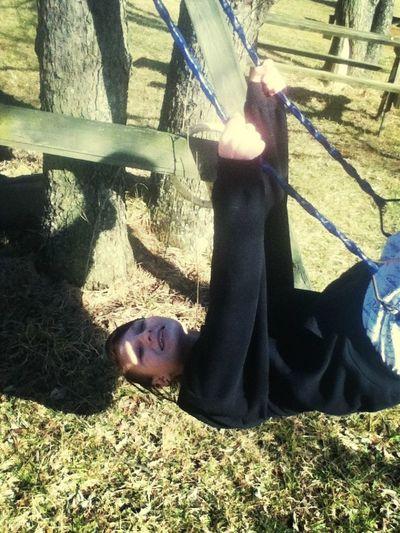 Having Fun Swinging