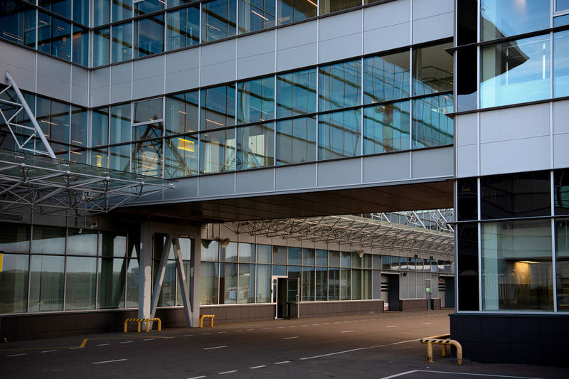 Empty modern building in city
