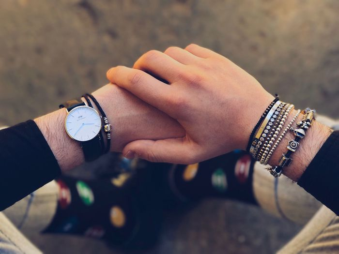 Silver power and colourfull socks! Human Hand Two People Close-up Real People Human Body Part Men Togetherness Indoors  Day Adults Only Adult People Jewelry Socks Watch