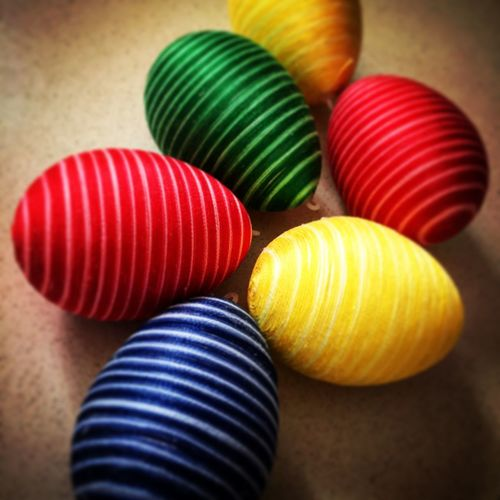 Colourful DIY Easter Easter Eggs Eggs Handmade Multi Colored No People Pattern