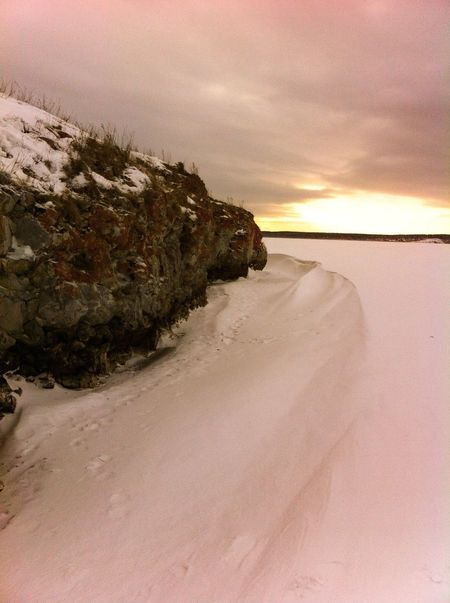 Rocks on the lake in winter Rock Rocks Lake Lake View Snow Winter Wintertime Sunset Landscape Landscape_Collection