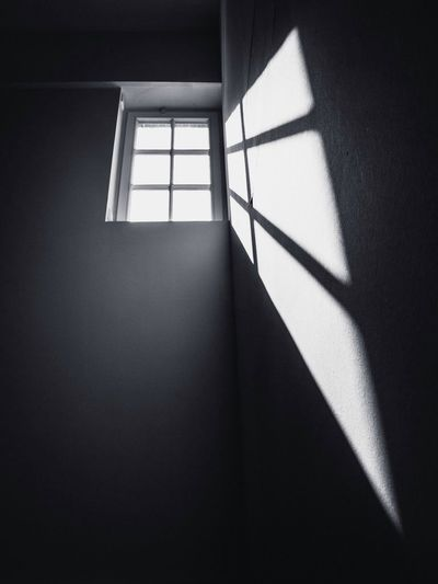 View of sun coming through window