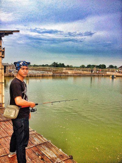 Fishing Taking Photos Enjoying Life