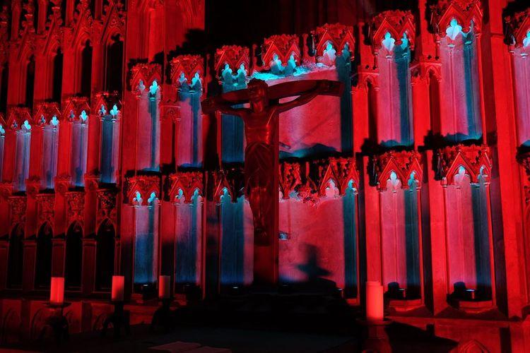 Jesus Christ In Illuminated Church
