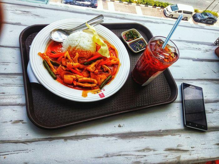 nasi ayam paprik! 👌 Kedah Penang Kulim Perai Malaysiafood EyeEm Selects Shopping ♡ Relaxing Rice Paddy Italian Food Plate High Angle View Close-up Food And Drink