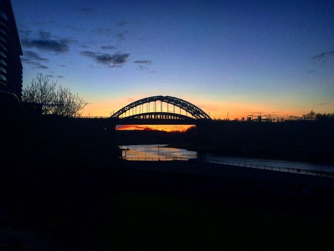 Urban Spring Fever Sunset Sunderland U.K Monkwearmouth Bridge Nice Shot Photoshotting Addicted To Photography Blue Orange Sky Beautiful View Artist Thinking Deeply, Thoughts Feelings Student Life Art, Drawing, Creativity Different Perspective Colour Of Life