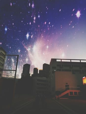 Night Business Finance And Industry Sky Star - Space Urban Skyline City Galaxy Astronomy Outdoors Milky Way People Futuristic Space Cityscape