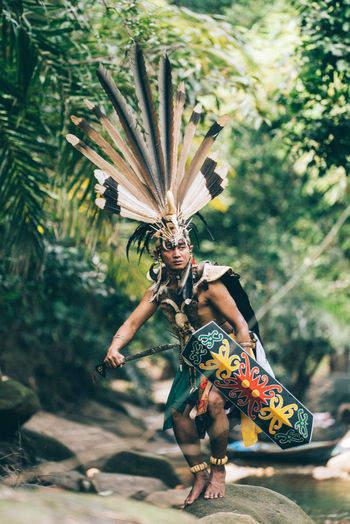 Traditional clothes Dayak Tribe from Central Kalimantan INDONESIA Central Kalimantan Dayak Tribe Dayak Dance Dayak Culture Dayak Day Full Length Selective Focus Standing Lifestyles Clothing Focus On Foreground Real People One Person EyeEm Best Shots EyeEm Gallery EyeEm Selects