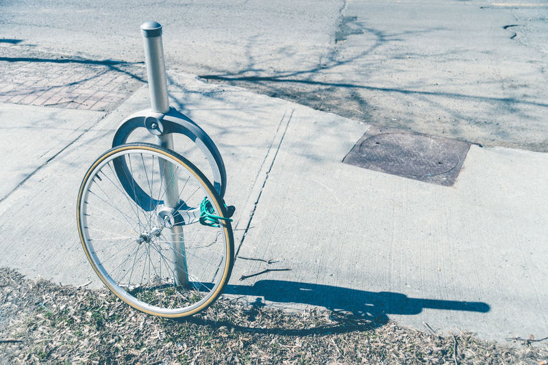 Bike theft with locked wheel in Ottawa, Canada Bicycle City Day No People Outdoors Pedal Sport Theft