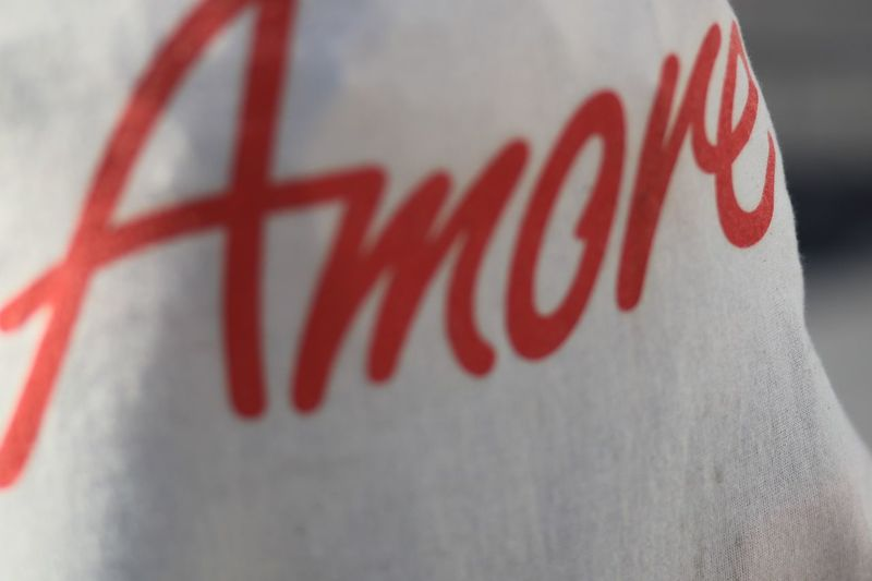 Amore Text Red Communication Close-up No People Western Script White Color