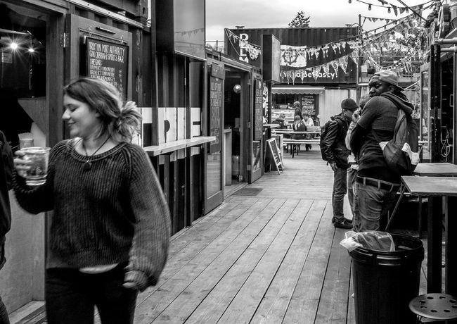 Brixton Port Authority, Pop Brixton, Brixton, London Street Pop Brixton Monochrome Black And White FUJIFILM X-T10 London Market Brixton