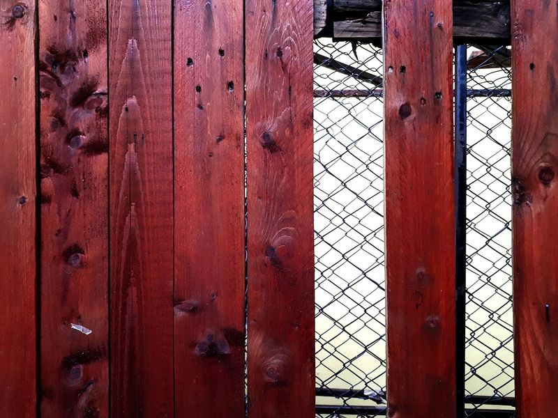 wood and Steel cage Backgrounds Background Wood Steel Cage Cage Caged Wooden Full Frame Red Backgrounds Pattern Door Protection Safety Close-up Architecture Built Structure