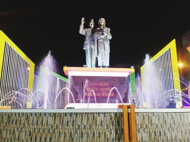 Monument Habibie & Ainun Love Fountain at Parepare, Sulawesi Selatan ,INDONESIA