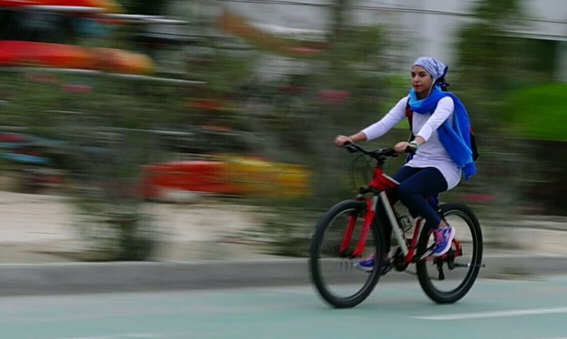 Women Around The World Kish Island Blured Photo Panningshot Panning Fast Moving Recreational Activities  Bicycle Track Bicycler One Person Only Panningphotography Panning Shot Urban Landscape Mode Of Transport Urban Exploration Cityscape Panning Photography Motion Bicycles Urbanphotography Urban Exploring Outdoor Fun Break The Mold Sommergefühle Neon Life Fashion Stories