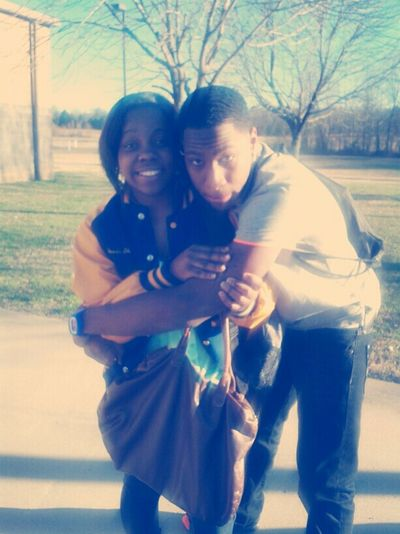 Meh And My Bro After Skool Yesterday!