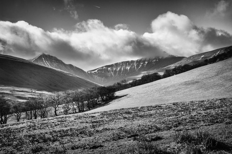 Mountains in the distance Black And White Landscape Brecon Beacons Beauty In Nature Black And White Blackandwhite Cloud - Sky Landscape Mountain Mountain Range Nature No People Outdoors Scenics Tranquil Scene Tranquility The Great Outdoors - 2018 EyeEm Awards Summer Road Tripping The Traveler - 2018 EyeEm Awards My Best Photo