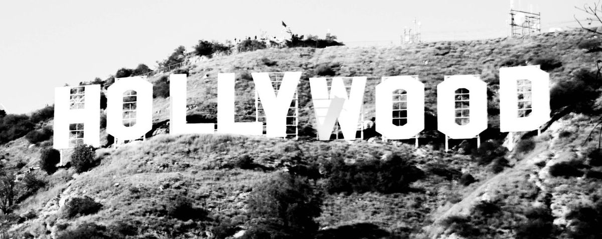 A must see if you're in LA Hollywood Blackandwhite Plant Sky Communication Tree Nature Text Built Structure Clear Sky No People Architecture Sign