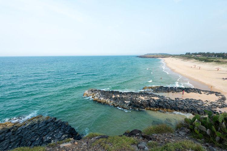 Phu Yen shoreline, Vietnam Aisa Beach Blue Wave Phu Yen Rocks Sand Sea Seascape Shoreline Travel Tuy Hoa Vietnam
