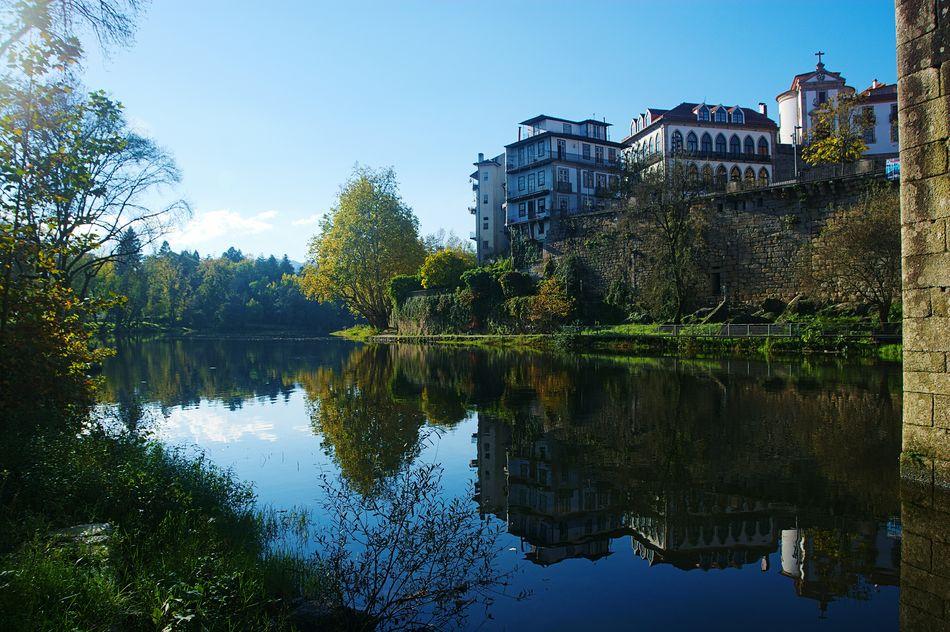 Amarante River Water Reflections Buildings Riverside