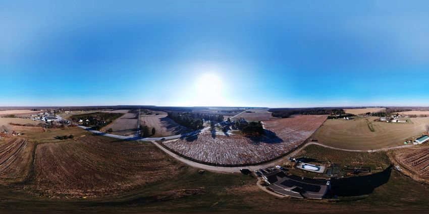 DJI Spark in Panoramic mode. This is my house and our farm. Wintertime Winter Nj Photography Nj South Jersey EyeEm Best Shots Dji Spark DJI X Eyeem Farm Life Farm Living My Farm Farm The Garden State New Jersey Aerial Photography Aerial View Dji Spark Drone  Dji Blue Landscape Transportation Day Outdoors Arid Climate Beauty In Nature Nature No People Sky Clear Sky