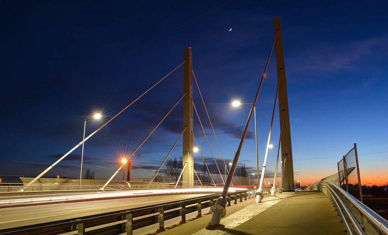 Night City Moon No People Bridge - Man Made Structure Illuminated Cloud - Sky Harmony Hello Friends :) For You ;-) Good Night ♡♡ Hungary Cool Pic Sweetdreams  Moon Light Autumn🍁🍁🍁 Hungry Békéscsaba