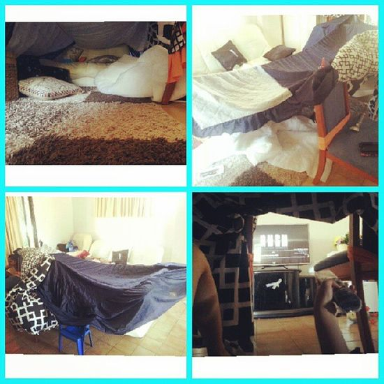 Made a fort with le siblings hahaxD. Bored Kids IHateHashtags Fort pillows adventuretime @sofia232228