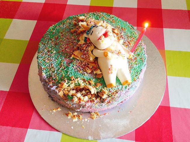 Unicorn cake 🎂 Patisserie 🦄🍀✨😉❤️️ Handmade Tasty Tastyfood Unicorn Tasty😋 Sweet Food Sweet Dessert Food And Drink High Angle View Food Cake Indoors  Baked Unhealthy Eating Freshness Indulgence Table Multi Colored Ready-to-eat Birthday Directly Above Temptation Still Life No People