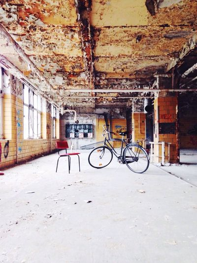 EyeEm Adventure Alte Fleischfabrik Bicycle Chair Abandoned Places Berlin