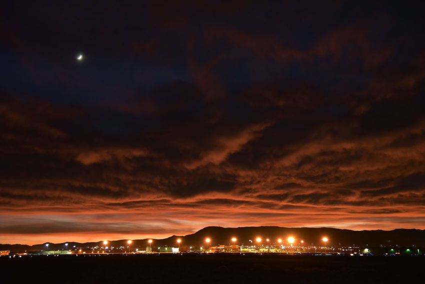 A dramatic looking sky just after sunset, looking southwest from Vivaldi Park in Henderson, Nevada. EyeEmNewHere Cloud - Sky Dramatic Sky Mountain Nature Night Sky Sunset