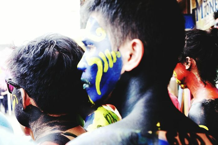 Multi Colored Headshot Real People People Sinulog2017 Sinulog Festival Painted Face