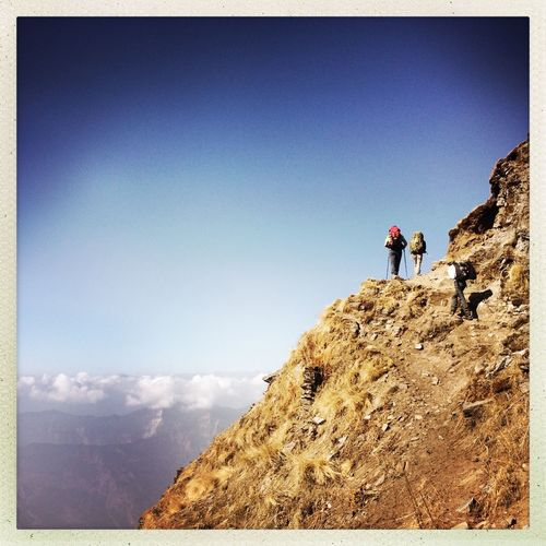 Nepali trekking Trekking Trekking In Nepal Nepal Nepal Travel Sky Real People Leisure Activity Auto Post Production Filter Nature Lifestyles Men Adventure Climbing Outdoors Hiking