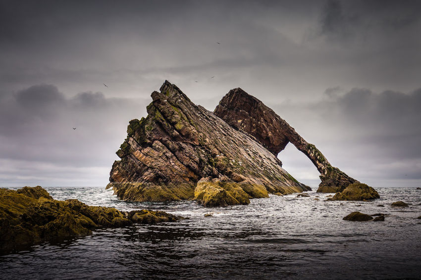 Bowfiddle Rock Rock Scotland Beach Beauty In Nature Bowfiddle Cloud - Sky Day Horizon Over Water Nature No People Outdoors Portknockie Rock - Object Rock Formation Scenics Sea Sky Tranquility Water Waterfront Wave