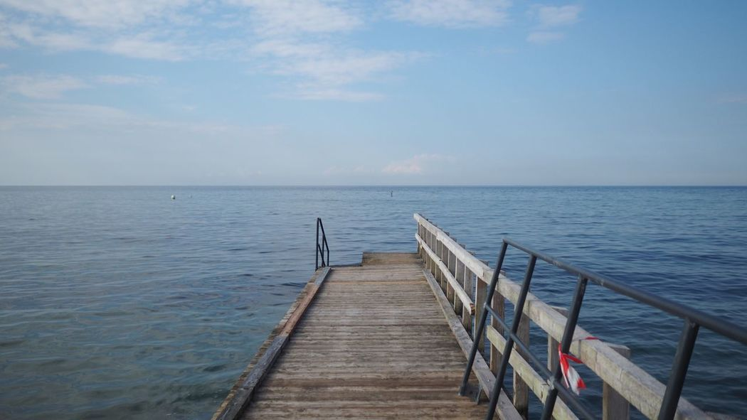 Breathing Space Wood - Material Sea Water Pier Scenics Tranquil Scene Horizon Over Water Beauty In Nature Tranquility Jetty Nature Sky Idyllic No People Day Outdoors Wood Paneling Bad Doberan Germany EyeEm Gallery Baltic Sea Sea And Sky Seascape Seaside Been There.