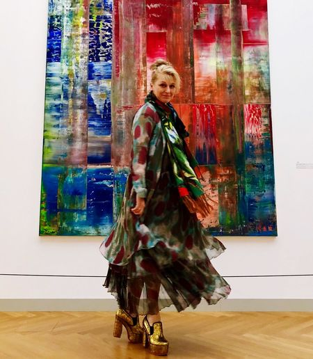 Richter und Wunderkind Arts Culture And Entertainment H-s-a Hasso Plattner Potsdam Barberini Potsdam Museum Art Wunderkind Women Gerhard Richter Human Representation Representation Indoors  Art And Craft Wall - Building Feature Creativity Female Likeness Multi Colored
