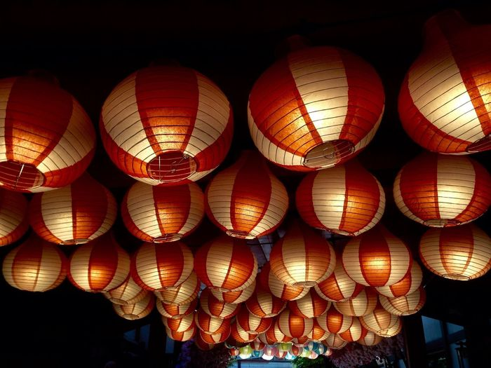 Lighting Equipment Lantern Hanging Illuminated No People Decoration Chinese Lantern Festival Indoors  Celebration Arrangement First Eyeem Photo