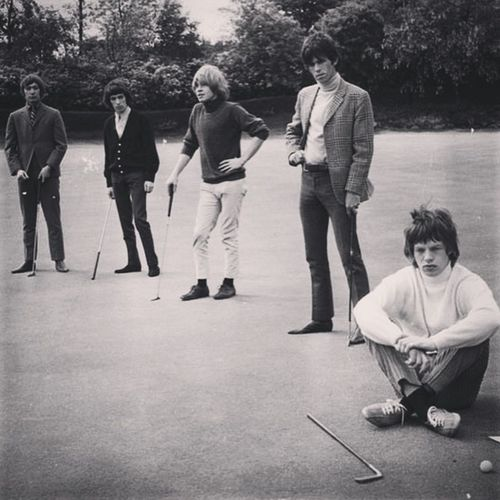 The RollingStones on the Green of the Gleneagles Hotel. Overall view here: http://www.photo-memory.eu/art-culture/?p=6143 Golfing Golf Gleneagles Sixties Rolling Stones TheRollingStones Rollingstones Musicphotography