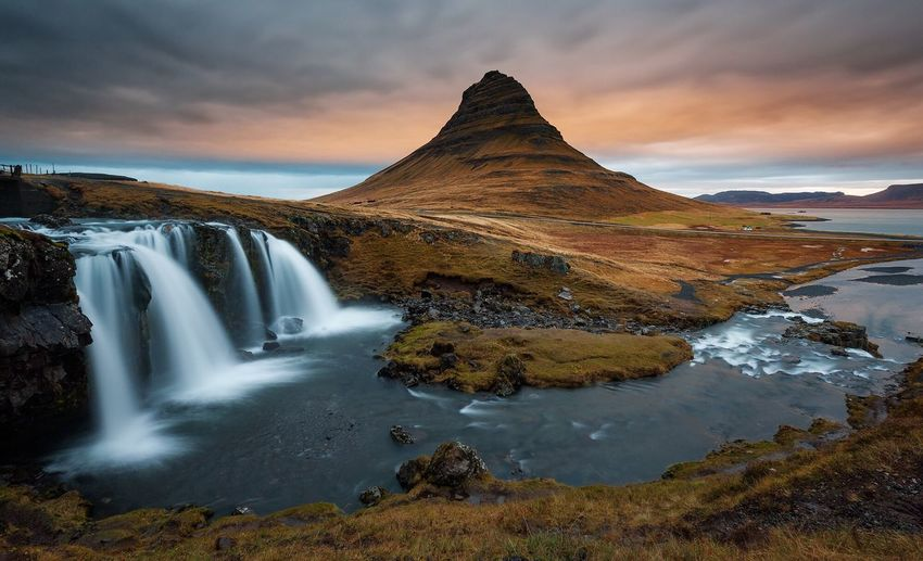 Orange Sunset Sunset Getty Images EyeEm Nature Lover Yanbertoni Enjoying Life EyeEm Best Shots Nature Landscape Traveling Iceland Waterfall Orange