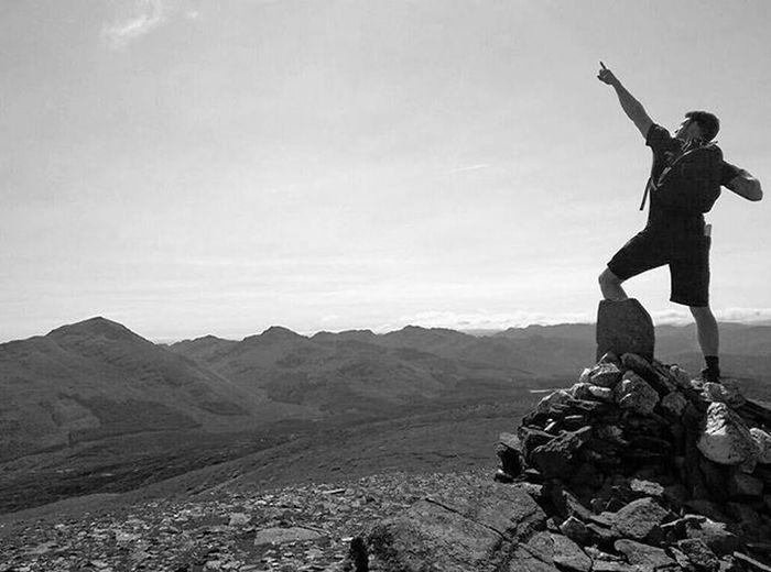 Summint of Meall Glass, Scotland Munro Scotland VisitScotland View Walk Climb Scramble Summit Alba Benmore Sgiathchuil Trek Summer Mountain Hill Valley Landscape Reflection Sunlight Cloud Nofilter Cairn Scenery Peak Sky skyline horizon usainbolt blackandwhite light
