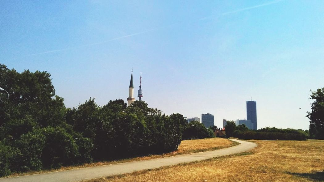 Seeing The SightsDonauturm und Moschee Landscape_Collection Complementary Colors Skyline Cityscapes Vienna Danube Sunny