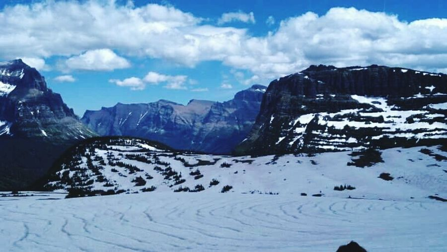 Winter Snow Cold Temperature Season  Scenics Tranquil Scene Mountain Beauty In Nature Tranquility Landscape Nature Geology Rock Formation Outdoors Nature Glacier NP, MT Going To The Sun Glaciernationalpark Going To The Sun My Favorite Place