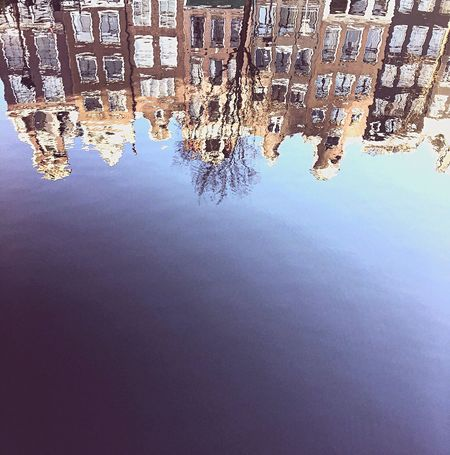 Building Reflection in Amsterdamcity Water Architecture Building Exterior Built Structure Day City No People Outdoors Sea Nature Beauty In Nature Cityscape Sky Amsterdam Vibe EyeEm City Mirror Effect Amsterdam Canal Amsterdam Mooi Nederland Nederland I Love You❤