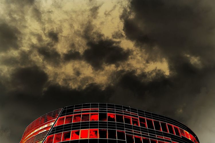 Sky Cloud - Sky Nature Low Angle View Illuminated Outdoors No People Built Structure Architecture Pattern Red Day