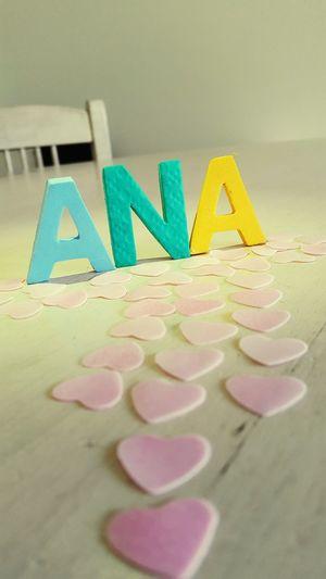 Heart Corazones Rosa Pink Nombres Nombre Soft Colors  Name Ana Nombre 3D