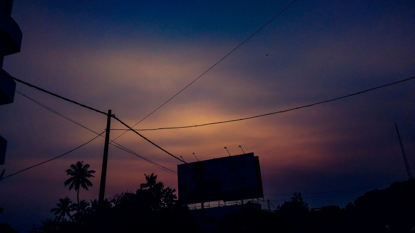 City silhouettes. Cable Sunset Silhouette Bird Dusk Sky Night No People Outdoors Low Angle View Electricity  Nature Technology Telephone Line Electricity Pylon Tree Beauty In Nature Animal Themes I LOVE PHOTOGRAPHY EyeEm Best Shots EyeEm Best Shots - Landscape Landscape_captures Eyeemphotography Traveldiaries Travel Photography