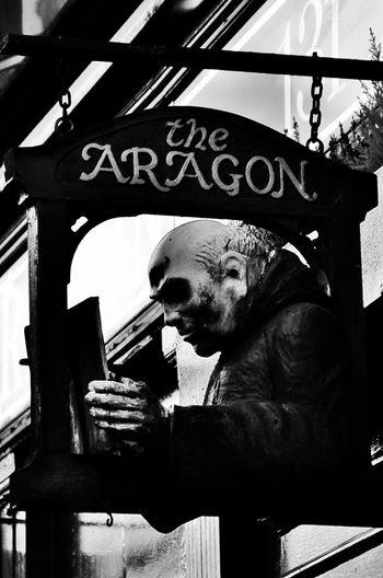 Text EyeEmNewHere City Gothic Style Dark Darkart Dark Edit Dark Sign Aragón