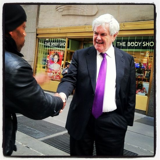 Still workin' it #newt #gingrich #gop #republican #endlesscampaign #6thave Republican 6thave Newt Endlesscampaign Gop Gingrich