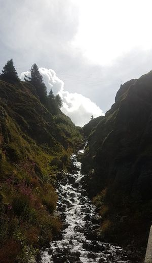 Mountain Cloud - Sky Outdoor Pursuit Landscape Mountain Range Tranquility No People Travel Destinations Hiking Water Tree Waterfall Riverview Day Outdoors Vacations Tranquility Swiss Alps Switzerland❤️ Nature Dramatic Sky Nature